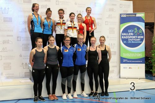 Hallenrad DM U19:  Mit 5 DM-Titel sichern sich die badischen Sportlerinnen und Sportler die Hälfte der zu vergebenden Titel im Kunst- und Einradfahren sowie den Vize-Meister im Radball U17